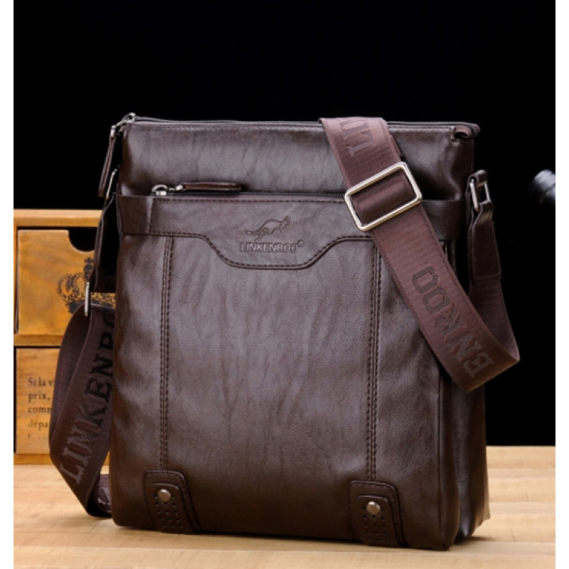 3f7da380bae4 Екатеринбург - Мужская сумка -T124 Цвет: тёмно-коричневыйРазмер: 23 ...