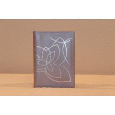 Кожаный бумажник Цвет: светло-сиреневый