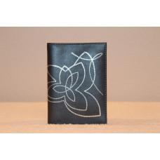 Кожаный бумажник Цвет: черный(темно-серый)
