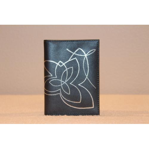 Кожаный бумажник Цвет: черный(темно-серый) купить за 850  ₽ в Самаре