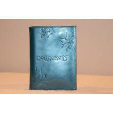 Кожаный бумажник цвет: морской-зеленый в Самаре