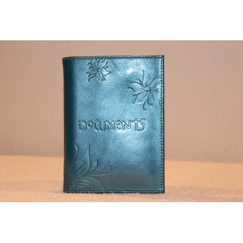 Сумки   Кожаный бумажник цвет: морской-зеленый,  1800р., Для женщин