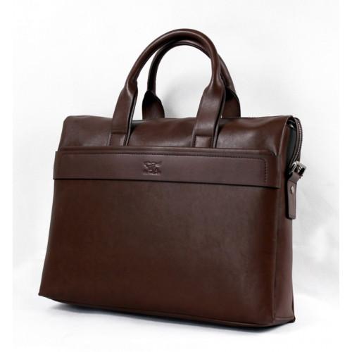 Брендовая мужская сумка бизнес портфель бесшовная с отделом для ноутбука