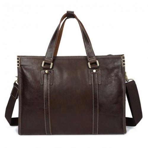 Сумки Мужская сумка портфель Для мужчин Натуральная кожа Бизнес Портфели Сумки на ремне для ноутбука сумка большая Бесплатная доставка